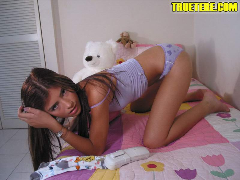 Amateur cutie teen playtoy for 3 old guys 4 scenes 4